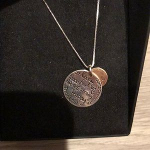 Positive gold & silver neckless